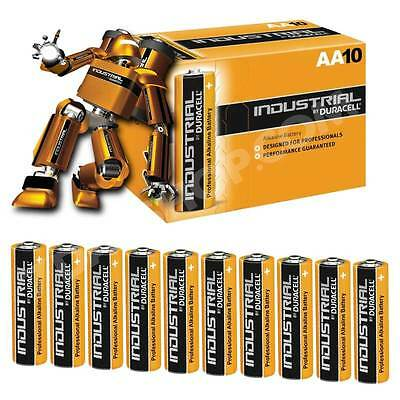 10x NEW Duracell INDUSTRIAL AA LR6 MN1500 Alkaline Batteries Replaces Procell AA