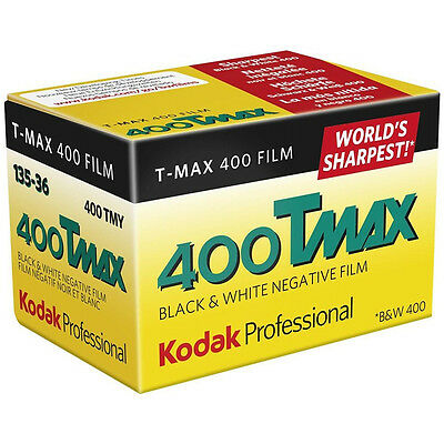 Kodak Professional T-MAX 400ASA 35mm Black and White Print Film 135-36 Exposure