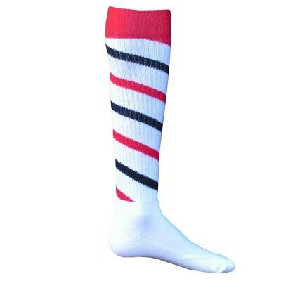 (Large, White / Red / Black) - Red Lion Cyclone Athletic Socks. Brand New