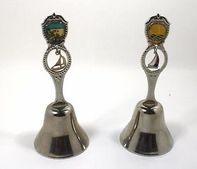 Vintage Metal State Bells ~ Lot of 2