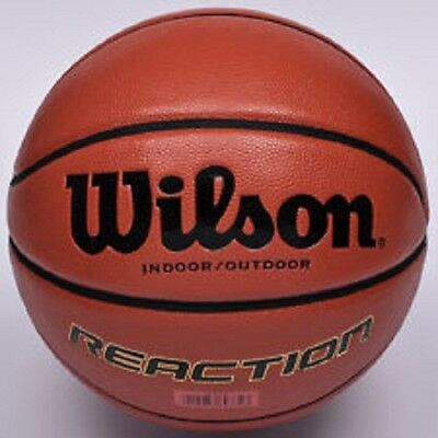"Wilson Reaction-Basketball-Indoor/outdoor-Official 29.5""-New-Free UK Delivery"