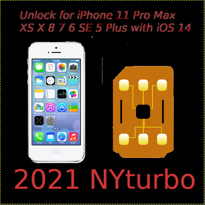 Perfect Unlock Turbo Sim Card for iPhone XS X 8 7 6S 6 Plus 5 SE iOS 11 12.1 R