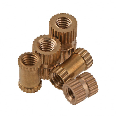 Brass M1.4 M1.6 M2 M2.5 M3 Embedded Knurled Insert Thumb Nuts Female Threaded