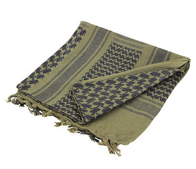 Military Shemagh Tactical Arab Desert Keffiyeh Scarf Head Wrap GREEN And BLACK