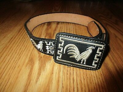 talabarteria leather Child's belt size 22 great condition=
