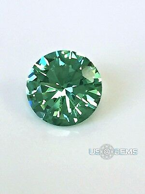 Emerald Yellowish Green #114. Round 3mm.  SIAMITE. Created Gemstone. US@GEMS