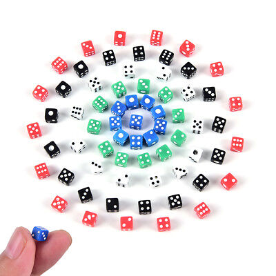 40x high quality Standard 5mm dice set D6 acrylic for Playing Game small dice EC
