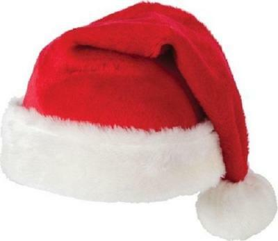 5pcs Unisex Father Christmas Hats XMAS Santa Family Hats Gift For Adult