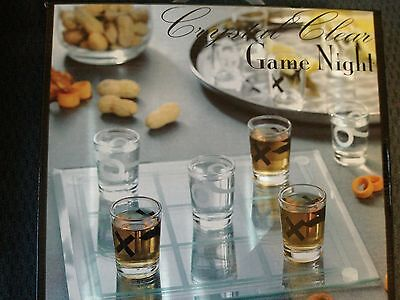 Crystal Clear Game Night Tic Tac Toe Shot Glass Game Set