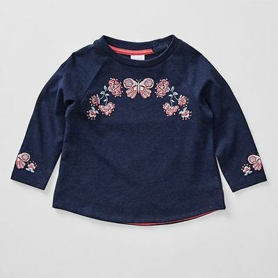 NEW Baby Long Sleeve Butterfly Puff Print T-Shirt