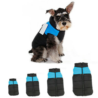 Waterproof Pet Dog Clothes Winter Warm Padded Coat Pet Vest Jacket Small