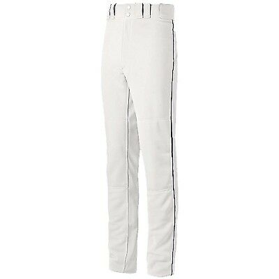 (Small, White/Black) - Mizuno Youth Global Elite Piped Pant. Delivery is Free
