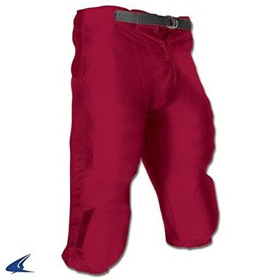 (X-Small, Cardinal) - Champro Youth Stretch Dazzle Snap Football Pant