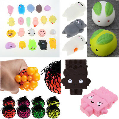 Kids Adult Anti Stress Face Reliever Balls Autism Mood Squeeze Relief ADHD Toys