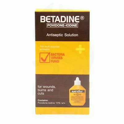 30 cc BOX BETADINE IODINE FIRST AID ANTISEPTIC SOLUTION CUTS BURNS WOUNDS