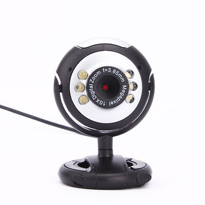 Hot HD 12.0 MP 6 LED USB Webcam Camera with Mic & Night Vision for PC Laptops UK