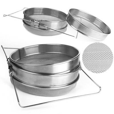 Honey Strainer Stainless Steel Double Sieve Beekeeping Equipment Filter Kit Set