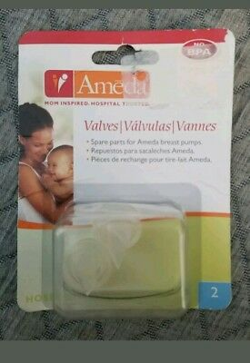 Ameda 2 Pack Breast Pump Valves,