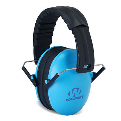 Blue Folding Children Ear Muffs Passive Noise Kid Hearing Protection Adjustable