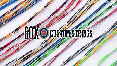 """60X Custom Strings 55/"""" D97 Compound Bowstrings Bow String"""