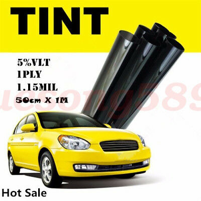 Window Tint Film 5% VLT Black Car Home Office Glass Solar Tint 50cm*1M