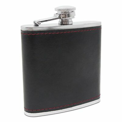 6oz Portable Stainless Steel PU Leather Cover Whiskey Alcohol Hip Flask
