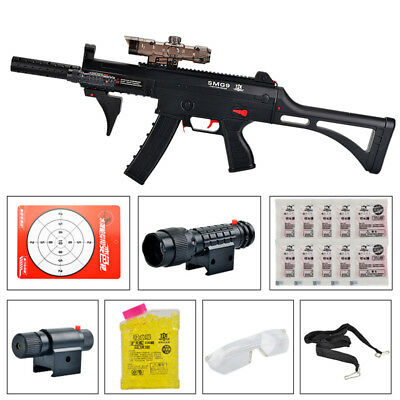 Toy SMG9 Water Gun Crystal Water Gel Ball Pistol Blaster Outdoor Black