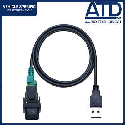 Aftermarket Standard Factory Fit USB Port Socket Switch Adaptor For VW Golf Mk5