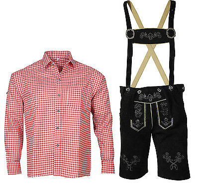 Traditional Costume Set Bavarian Short Leather Pants Trousers Oktoberfest
