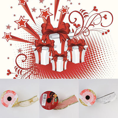 1Roll Glitter  Organza Ribbon Gift Wrapping Tape Wedding Christmas Party Decor