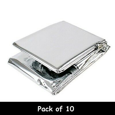 10x Premium FOIL Thermal Emergency BLANKET First Aid Waterproof Camping Survival