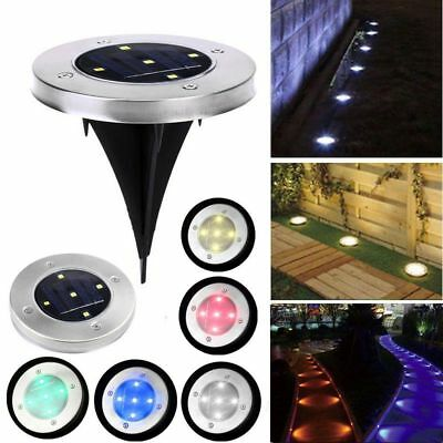 5 LED Solar Power Buried Light Under Ground Lamp Outdoor Path Way Garden Decking