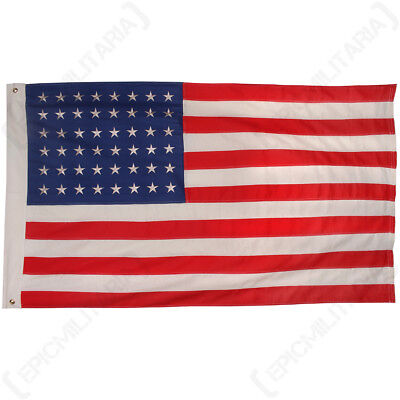 Vintage Style US Flag 48 Stars - WW2 American Repro Classic 100% Cotton Army New