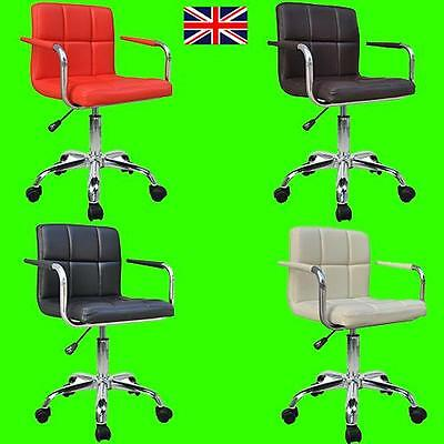 2 X Quality Design Swivel Pu Leather Office Furnitue Computer Desk Office Chair
