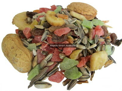 Tropical Blue Fruit Seed Mix 1kg or 2.5kg troppo parrot feed food dried bird