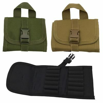 Outdoor 14Round Tactical Hunting Rifle Buttstock Shell Belt Carrier Pouch Holder