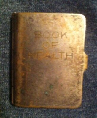 Unusual Figural Vintage Book of Health Pill Box Napier Signed Pat. Pending