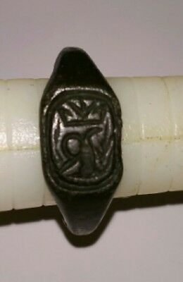 """Ancient Medieval Bronze Ring Crowned """"R"""" Richard III Servant's Supporter's Ring?"""