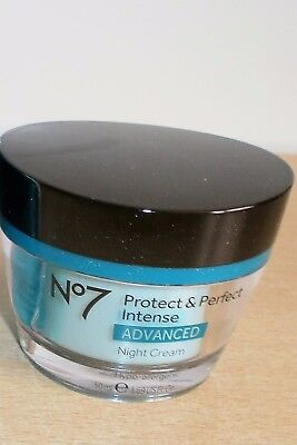 BOOTS No7 PROTECT & AND PERFECT INTENSE ADVANCED NIGHT CREAM 50ml NEW