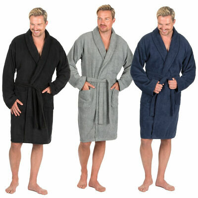 Pierre Roche Mens Terry Cloth Towelling Bath Robe Shawl Collar Dressing  Gown New d57738138