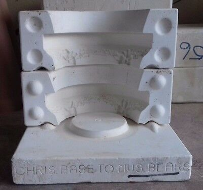 Ceramic Slip Casting Mold Gare 2957 Christmas Musical Base Holly And Bows