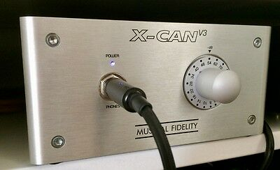 MUSICAL FIDELITY X-CANv3 TUBE HEADPHONE AMP With EXTRA PAIR OF JJ TESLA TUBES.