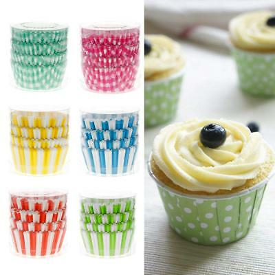 100PCS Hot Paper Cupcake Case Wedding Wrapper Muffin Liners Baking Cups Fashion
