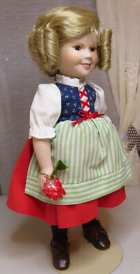 Shirley Temple Porcelain Dolls Of The Silver 1986 Twentieth Century Fox 13''1/2