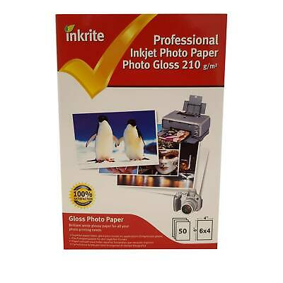 """50 Sheets of Inkrite Gloss Photo Paper 6x4"""" (210gsm)"""
