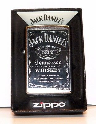 "New Zippo lighter ""Jack Daniels"" Old No 7 Brand High Polish Chrome Finish"