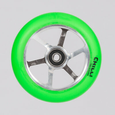 Chilli Pro 6-Spoked Wheel 110mm Green/Silver
