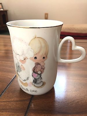 "Precious Moments Cup/Mug   ""Sew in Love"" 1978"