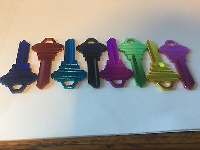Titanium (Alum.) Schlage SC-1 Blank Keys SET OF 5 - (8 colors to choose from)
