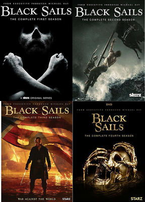 Black Sails:The Complete Series Season 1-4 1 2 3 4 DVD Sets,12 Discs NEW